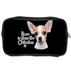 Chihuahua Toiletries Bags by Valentinaart