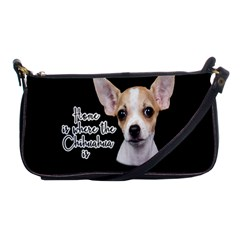 Chihuahua Shoulder Clutch Bags by Valentinaart