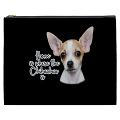 Chihuahua Cosmetic Bag (xxxl)  by Valentinaart