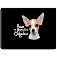 Chihuahua Double Sided Fleece Blanket (large)  by Valentinaart