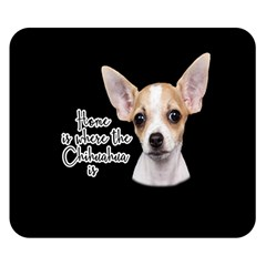Chihuahua Double Sided Flano Blanket (small)  by Valentinaart