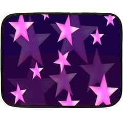 Background With A Stars Fleece Blanket (mini)
