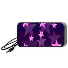 Background With A Stars Portable Speaker (black) by Nexatart
