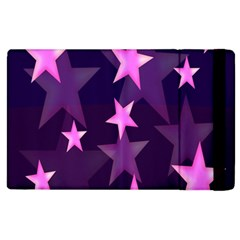 Background With A Stars Apple Ipad 3/4 Flip Case by Nexatart