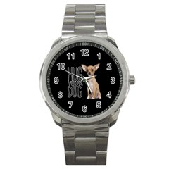 Chihuahua Sport Metal Watch by Valentinaart