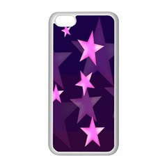 Background With A Stars Apple Iphone 5c Seamless Case (white) by Nexatart