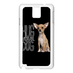 Chihuahua Samsung Galaxy Note 3 N9005 Case (white) by Valentinaart