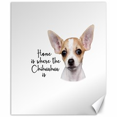 Chihuahua Canvas 8  X 10  by Valentinaart