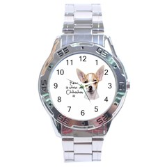 Chihuahua Stainless Steel Analogue Watch by Valentinaart