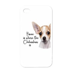 Chihuahua Apple Iphone 4 Case (white) by Valentinaart