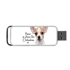 Chihuahua Portable Usb Flash (one Side) by Valentinaart