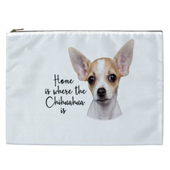 Chihuahua Cosmetic Bag (xxl)  by Valentinaart
