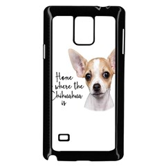 Chihuahua Samsung Galaxy Note 4 Case (black) by Valentinaart