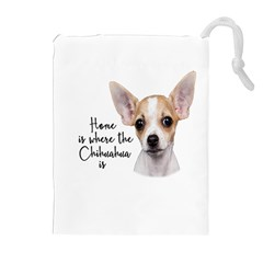 Chihuahua Drawstring Pouches (extra Large) by Valentinaart