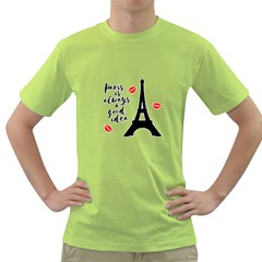 Paris Green T Shirt