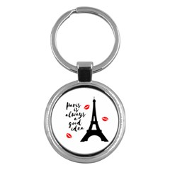 Paris Key Chains (round)  by Valentinaart