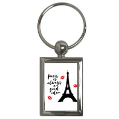 Paris Key Chains (rectangle)  by Valentinaart