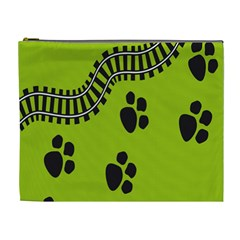 Green Prints Next To Track Cosmetic Bag (xl)