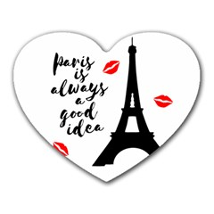 Paris Heart Mousepads by Valentinaart
