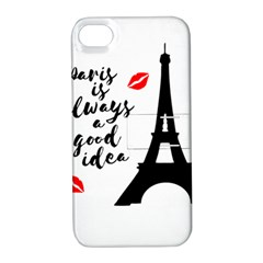 Paris Apple Iphone 4/4s Hardshell Case With Stand by Valentinaart