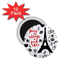 Paris 1 75  Magnets (10 Pack)  by Valentinaart