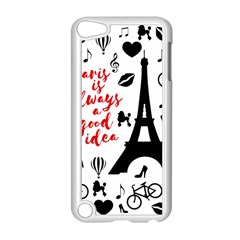 Paris Apple Ipod Touch 5 Case (white) by Valentinaart