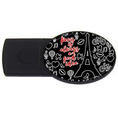 Paris Usb Flash Drive Oval (2 Gb) by Valentinaart