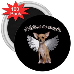 Angel Chihuahua 3  Magnets (100 Pack) by Valentinaart