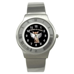Angel Chihuahua Stainless Steel Watch by Valentinaart