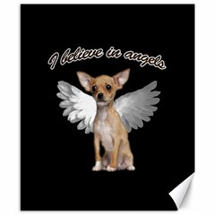 Angel Chihuahua Canvas 8  X 10  by Valentinaart