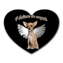 Angel Chihuahua Heart Mousepads by Valentinaart