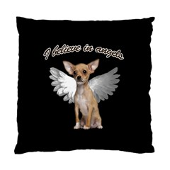Angel Chihuahua Standard Cushion Case (two Sides) by Valentinaart