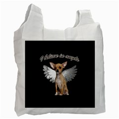 Angel Chihuahua Recycle Bag (one Side) by Valentinaart