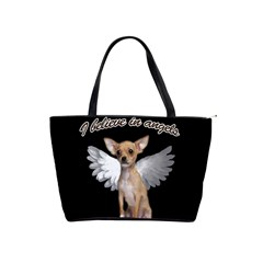Angel Chihuahua Shoulder Handbags by Valentinaart