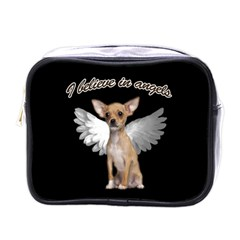Angel Chihuahua Mini Toiletries Bags by Valentinaart