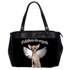 Angel Chihuahua Office Handbags (2 Sides)  by Valentinaart