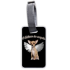 Angel Chihuahua Luggage Tags (two Sides) by Valentinaart