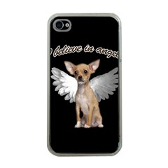 Angel Chihuahua Apple Iphone 4 Case (clear) by Valentinaart