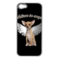Angel Chihuahua Apple Iphone 5 Case (silver) by Valentinaart