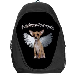 Angel Chihuahua Backpack Bag by Valentinaart