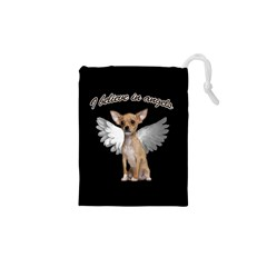 Angel Chihuahua Drawstring Pouches (xs)  by Valentinaart