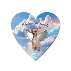 Angel Chihuahua Heart Magnet by Valentinaart