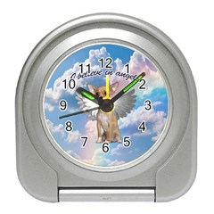 Angel Chihuahua Travel Alarm Clocks by Valentinaart