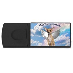 Angel Chihuahua Usb Flash Drive Rectangular (4 Gb) by Valentinaart