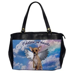 Angel Chihuahua Office Handbags by Valentinaart