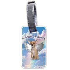 Angel Chihuahua Luggage Tags (one Side)  by Valentinaart