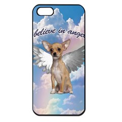 Angel Chihuahua Apple Iphone 5 Seamless Case (black) by Valentinaart