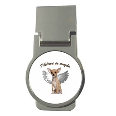 Angel Chihuahua Money Clips (round)  by Valentinaart