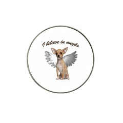 Angel Chihuahua Hat Clip Ball Marker by Valentinaart