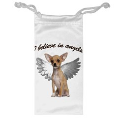 Angel Chihuahua Jewelry Bag by Valentinaart